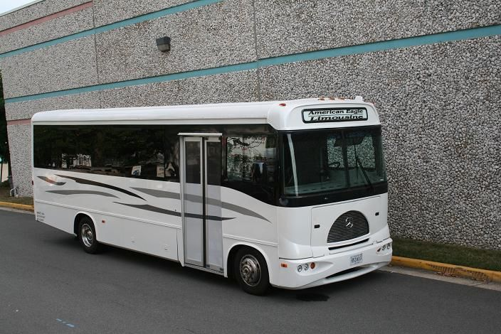 Mercedes benz party bus american eagle limousine for Mercedes benz northern virginia