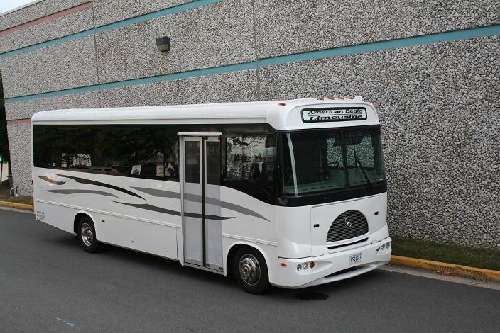 Mercedes benz party bus american eagle limousine for Mercedes benz northern va