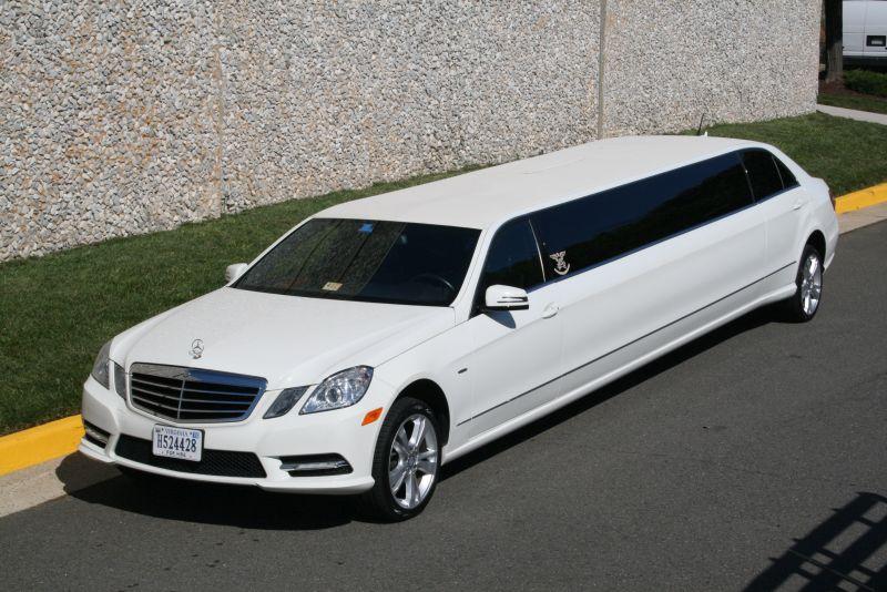 Mercedes benz white limousine american eagle limousine for Mercedes benz northern va